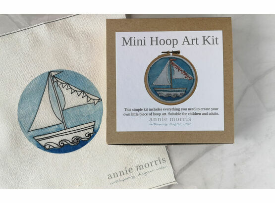 *NEW* Little Boat Mini Hoop Art Hand Embroidery Kit