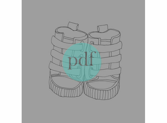 'Boy's First Shoes' PDF Embroidery Pattern