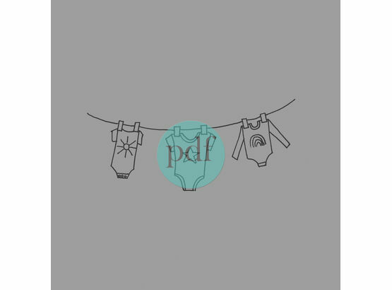 'Clothes On Washing Line' PDF Embroidery Pattern