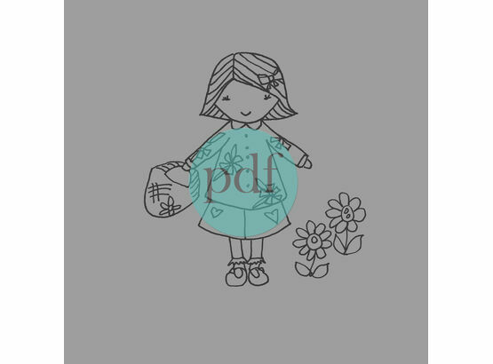 'Nell' Little Girl PDF Embroidery Pattern