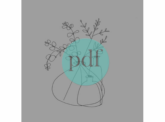 'Glass Bottles & Eucalyptus' PDF Embroidery Pattern