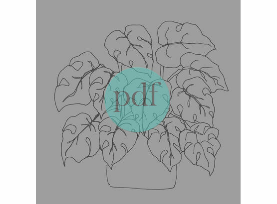 \'Monstera\' PDF Embroidery Pattern
