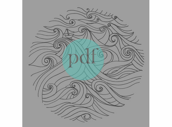 'Boat In Stormy Seas' PDF Embroidery Pattern